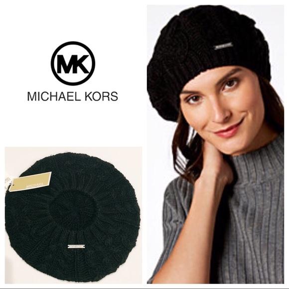 ae01dddf3d8a2 Michael Kors Knitted Black Beret